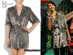 In Jessica Alba's Closet - 3.1 Phillip Lim Sequined Shirt Dress
