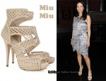 In Lucy Liu's Closet - Miu Miu Cutout Sandals