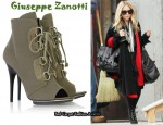 In Mary-Kate Olsen's Closet - Giuseppe Zanotti Peep-toe canvas boots