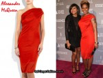 In Mary J Blige's Closet - Alexander McQueen Asymmetric Jersey Dress