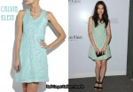 In Michelle Monaghan's Closet - Calvin Klein Washed Silk-Blend Dress
