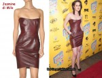 In Kristen Stewart's Closet - Jasmine di Milo Leather Tube Dress