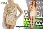 In Lily Collins' Closet - Tibi Beaded One-Sleeve Mini Dress