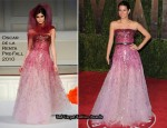 Runway To 2010 Vanity Fair Oscar Party - Angie Harmon & Lea Michele In Oscar de la Renta