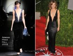Runway To 2010 Vanity Fair Party - Hilary Swank In Armani Privé