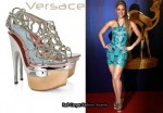 In Shakira's Closet - Versace Intrecciata Metal Platform Sandals