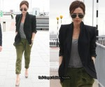 Victoria Beckham At London Heathrow Airport