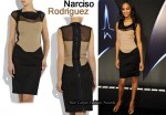 In Zoe Saldana's Closet - Narciso Rodriguez Two Tone Pencil Dress