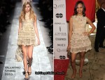 Runway To 3rd Annual Essence Black Women In Hollywood Luncheon - Zoe Saldana In Valentino