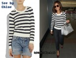 In Cheryl Cole's Closet - See by Chloe Striped Sweater