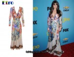 In Lea Michele's Closet - Etro Marble Print Dress