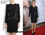 In Heidi Klum's Closet - Alexander McQueen Zip Detail Dress