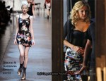 "On The ""Something Borrowed"" Set With Kate Hudson In Dolce & Gabbana"