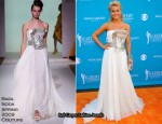 2010 Academy of Country Music Awards Red Carpet – Julianne Hough In Basil Soda Couture