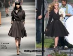 Runway To Photoshoot - Katherine Heigl In Lanvin