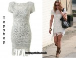 In Charlotte Church's Closet - Topshop Knitted Crochet Dress