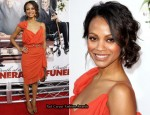 """Death at The Funeral"" LA Premiere - Zoe Saldana In Lanvin"