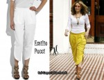 In Kylie Minogue's Closet - Emilio Pucci Button-Side Cropped Pants