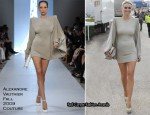 Runway To Grand National - Alex Curran In Alexandre Vauthier Couture