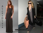 In AnnaLynne McCord's Closet - Alice + Olivia Long Ribbed Tank Dress
