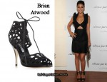 In Emmanuelle Chriqui's Closet - Brian Atwood Embroidered Lace Up Sandals