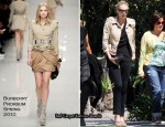 Runway To Sidewalk - Charlize Theron In Burberry Prorsum