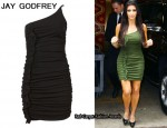 In Kim Kardashian's Closet - Jay Godfrey One-Shoulder Dress