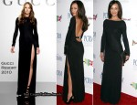 The Art of Compassion PCRM 25th Anniversary Gala - Maggie Q In Gucci
