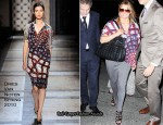 Runway To JFK - Jessica Simpson In Dries Van Noten