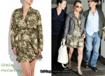 In Jessica Simpson's Closet - Stella McCartney Floral Print Dress & Derek Lam Bucket Bag