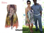 In Halle Berry's Closet - Etro Strapless Chiffon Print Dress