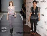Tod's Beverly Hills Boutique Opening - Halle Berry In Isabel Marant