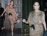 """Live with Regis & Kelly"" - Jennifer Lopez In Lanvin"