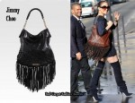 In Jennifer Lopez' Closet - Jimmy Choo Tatum Fringe Shoulder Bag