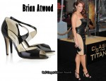 In Amanda Righetti's Closet - Brian Atwood Katie Lee Patent-Leather Sandals