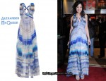 In Daisy Lowe's Closet - Alexander McQueen Agate Printed Chiffon Dress