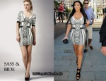 In Kim Kardashian's Closet - Sass & Bide No Way Out Graphic Print Dress & Proenza Schouler Leather Platform Sandals