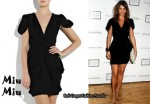 In Helena Christensen's Closet - Miu Miu Puff Sleeve Dress