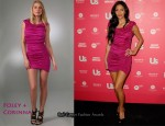 In Nicole Scherzinger's Closet - Foley + Corinna Pink Jersey Dress