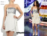 In Selena Gomez' Closet - Alice + Olivia Sequined Bodice Strapless Dress