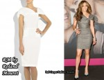 In Jennifer Lopez' Closet - RM by Roland Mouret Aphrodite Twist-Detail Dress