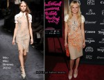 """Happythankyoumoreplease"" New York Premiere - Malin Akerman In Miu Miu"