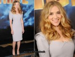 """Iron Man 2"" LA Photocall - Scarlett Johansson In RM by Roland Mouret"