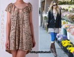 In Whitney Ports' Closet - Shakuhachi Tiger Knot T-Shirt Dress
