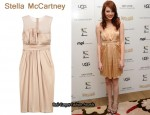 In Emma Stone's Closet - Stella McCartney Pleated Silk-Satin Dress