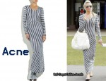 In Alex Curran's Closet - Acne Extreme Stripe Long Sleeve Dress