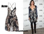 In Maggie Gyllenhaal's Closet - Acne Snake Print Dress