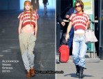 Runway To Amsterdam Airport Schiphol - Cheryl Cole In Alexander Wang