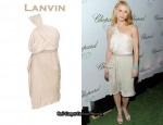 In Claire Danes' Closet - Lanvin One-Shoulder Draped Dress