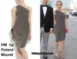 In Diane Kruger's Closet - RM by Roland Mouret Hebe Striped Dress
